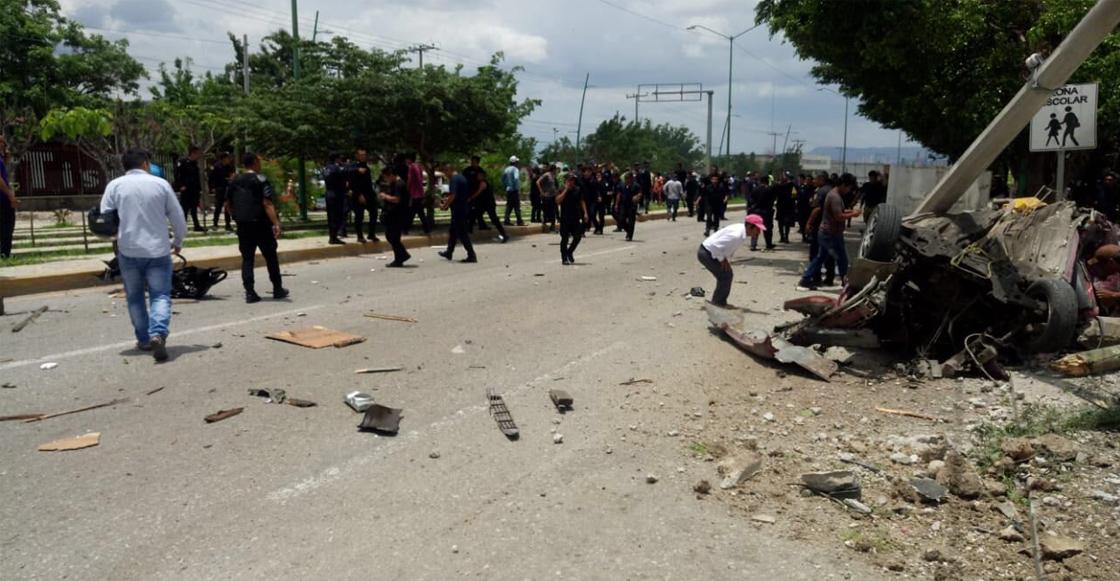 Trailer se quedó sin frenos en Tuxtla Gutiérrez; al menos 7 muertos y 10 heridos
