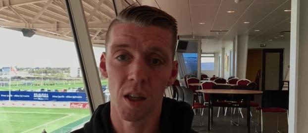 Birkir Sævarsson, jugador de Islandia que tiene permiso en su trabajo