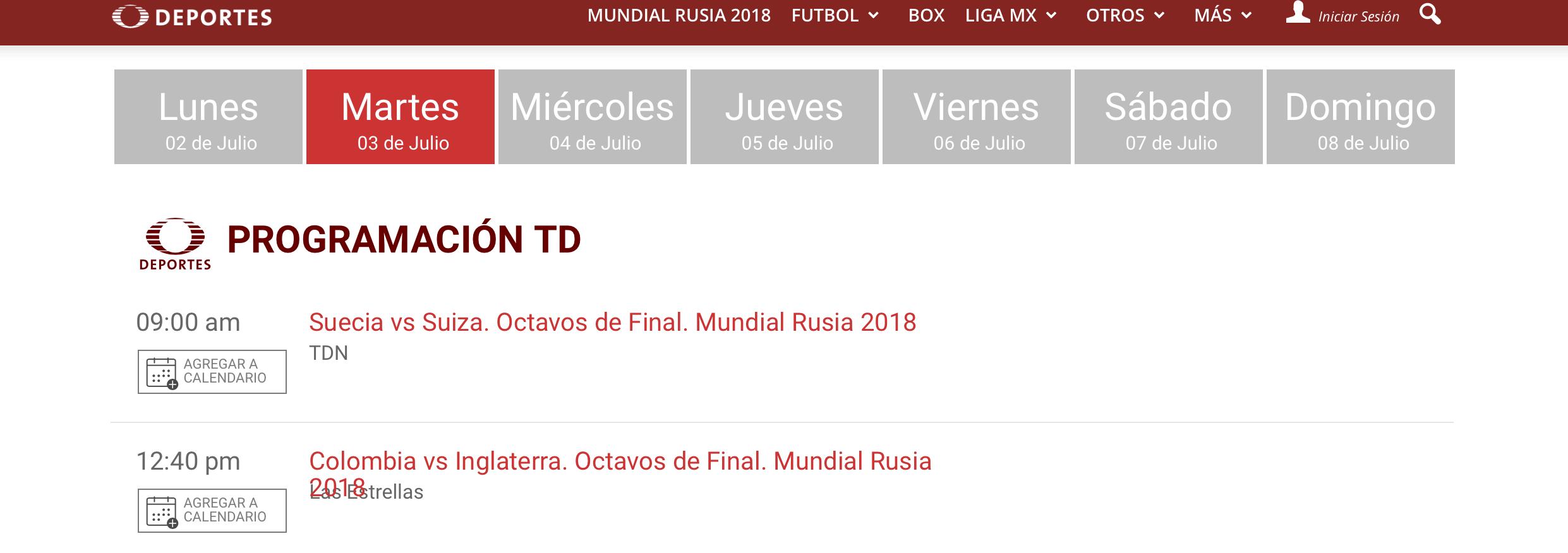 Horarios, fechas y canales para ver los Octavos de Final de Rusia 2018