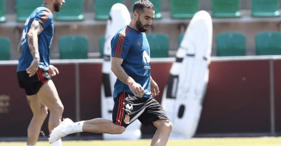 Dani Carvajal reaparece en entrenamiento de España para Rusia 2018