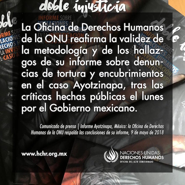 Doble Injusticia informe Ayotzinapa
