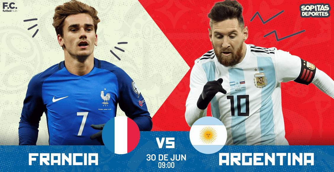 ¿Cuándo, cómo y dónde ver totalmente en vivo el Francia vs Argentina?