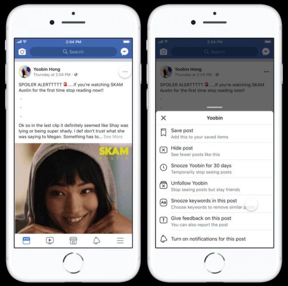Ahora podrás bloquear contenido en Facebook usando palabras clave