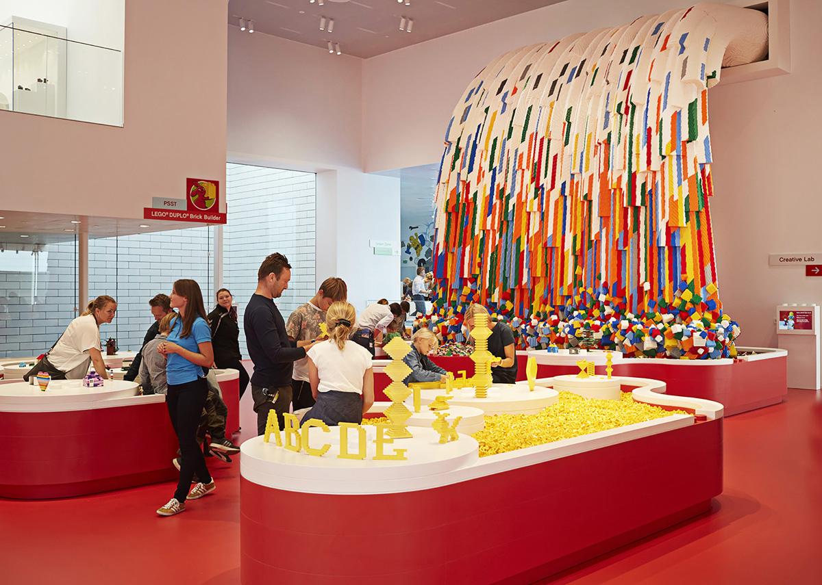 Interior de la Casa Lego en Dinamarca