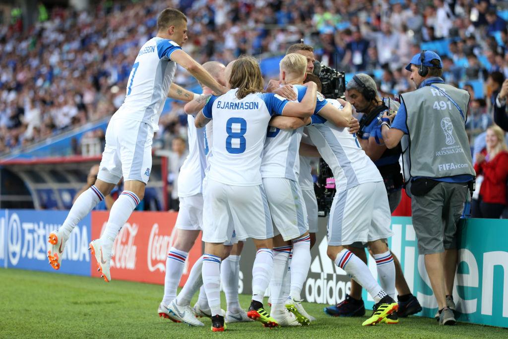 Alfred Finnbogason, islandés que marcó el primero gol de Islandia