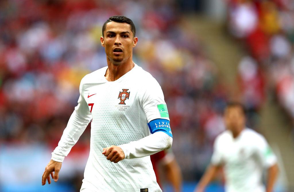 Cristiano Ronaldo luce The Goat como look