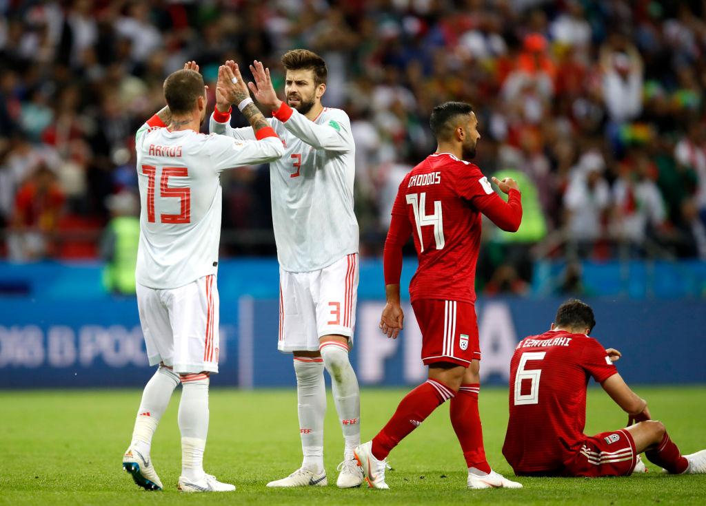 Gerard Piqué jugó su partido 100 con España