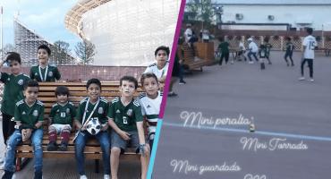 Hijos de Seleccionados Mexicanos echaron 'cascarita' en Rusia