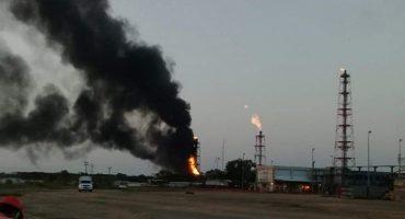 Se registró un fuerte incendio en la refinería de Minatitlán, Veracruz