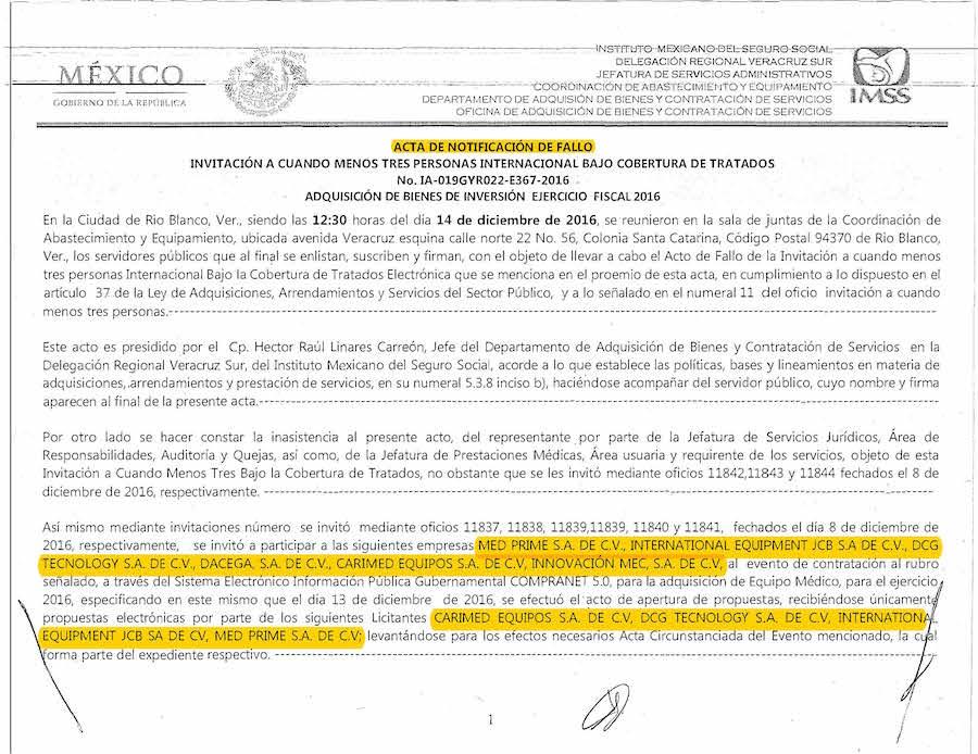 LicitacionEmpresas IMSS