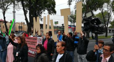 Damnificados del 19S se manifiestan y cierran Calzada de Tlalpan