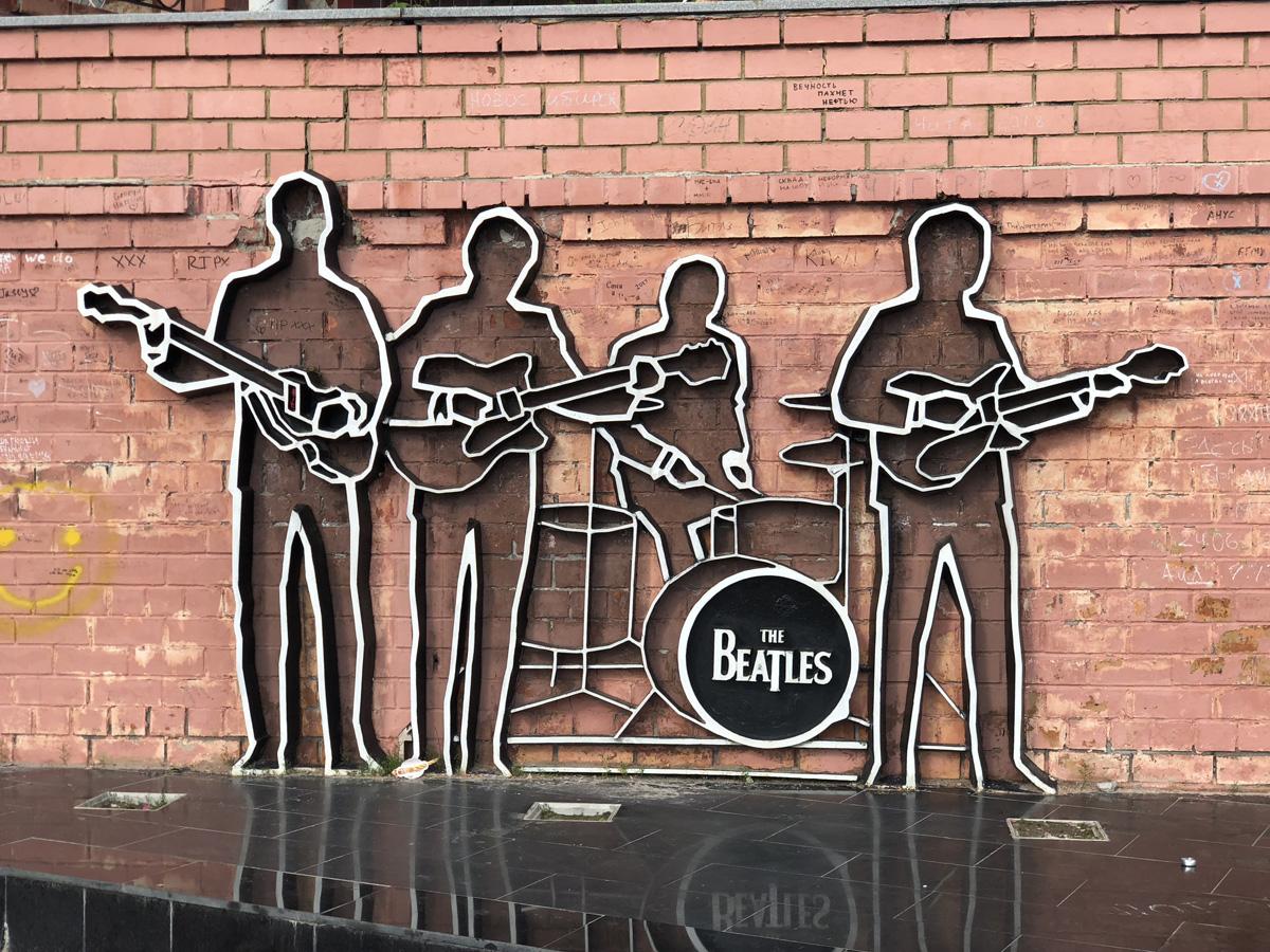 Monumento a los Beatles en Ekaterimburgo