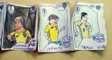 La tierna historia del niño brasileño que dibujó su propio álbum del mundial