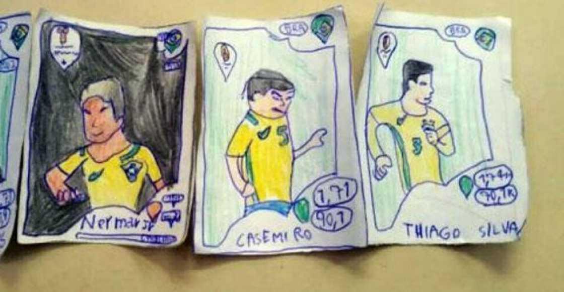 Un niño brasileño dibujó su propio álbum del mundial