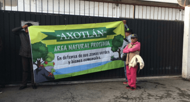En defensa de la Laguna de Axotlán, comunidad cierra Operagua en Cuautitlán Izcalli