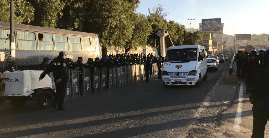 Operativo vial CNTE México Pachuca