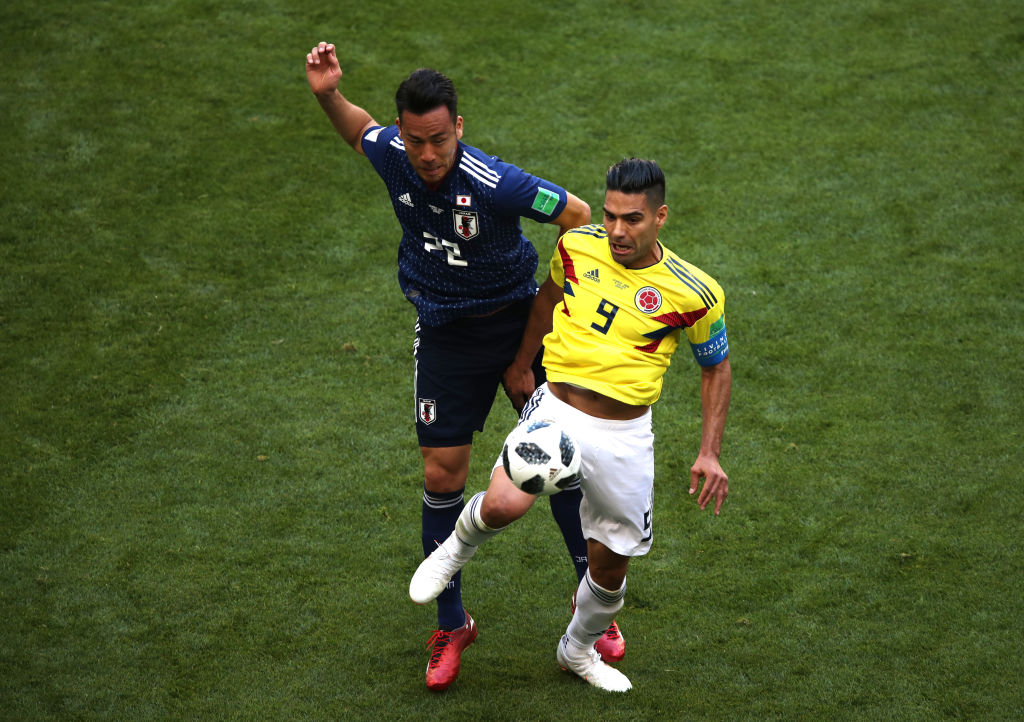 Radamel Falcao en el Colombia vs Japón