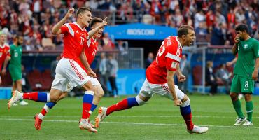 Acá los mejores momentos del partido inaugural de Rusia 2018