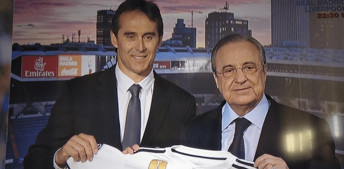 Julen Lopetegui fue presentado por el Real Madrid
