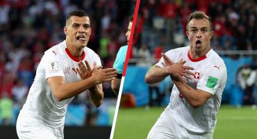 Goleadores de Suiza serían suspendidos dos juegos por sus festejos ante Serbia