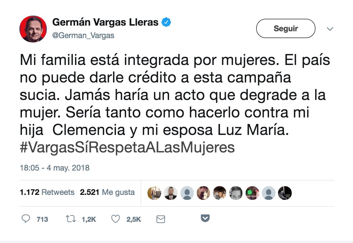 Tuit Gerardo Vargas Lleras
