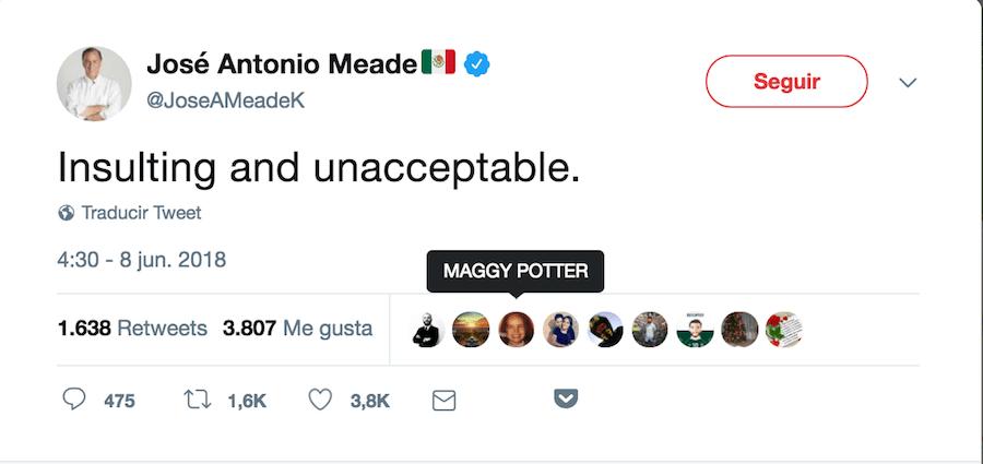 Tuit Meade a Anaya