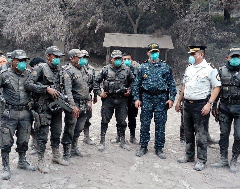 Volcán de Fuego Guatemala ejército