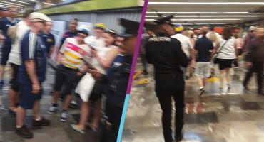 ¿Sacando el cobre o ke ase? Aficionados de Escocia son asaltados en el Metro de la CDMX