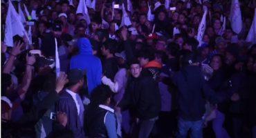 Altercado en evento de López Obrador en Pachuca llega a los golpes: