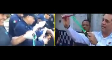 Yunes desarma a policías de Alvarado, Veracruz... en respuesta, alcalde entrega resorteras