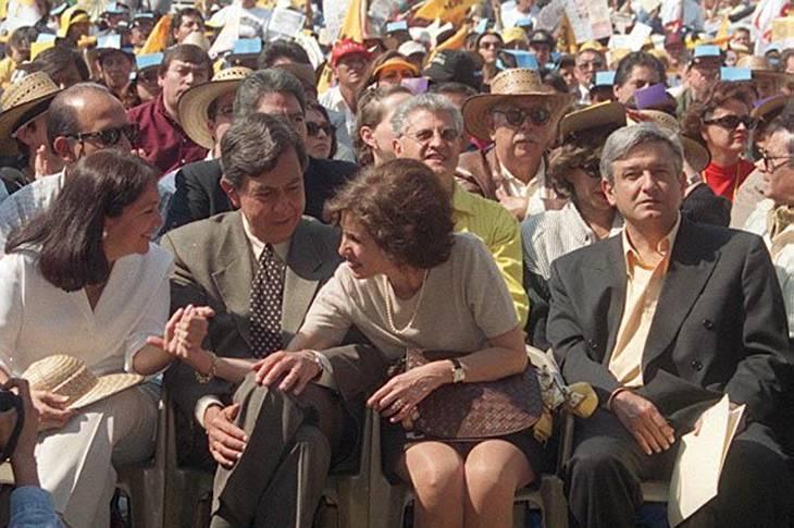 Cárdenas, Amalia García y AMLO