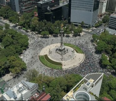 El triunfo de México vs Alemania visto desde las alturas de la Ciudad de México