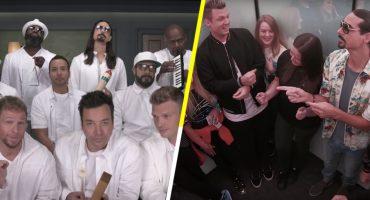 ¡Maldita suerte! Los Backstreet Boys sorprenden a sus fanáticas en un elevador