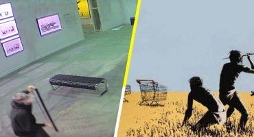 Así se robaron un Banksy de una exposición en Toronto