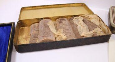 ¡Encuentran barras de chocolate que pertenecieron a un soldado de la Primera Guerra Mundial!