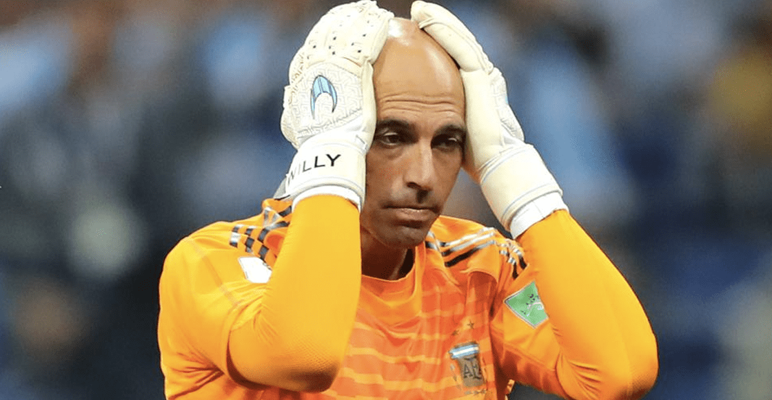 El error de Willy Caballero y Lio Messi