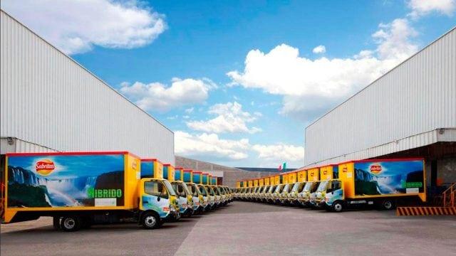 Camiones repartidores PepsiCo