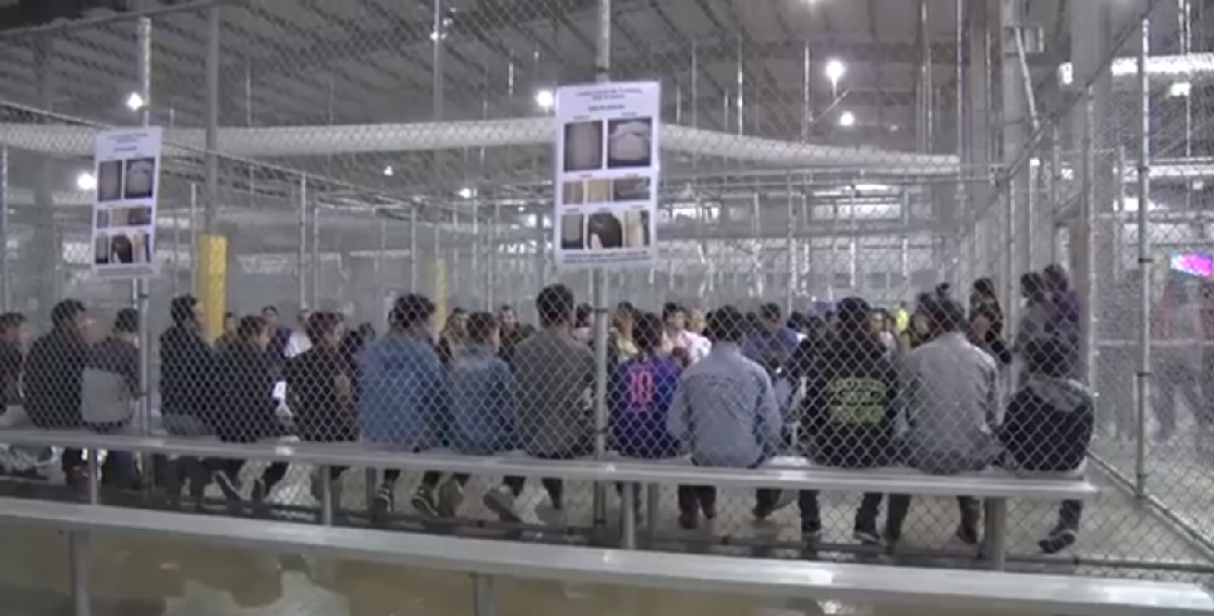 Imagen del centro de detención de McAllen, Texas