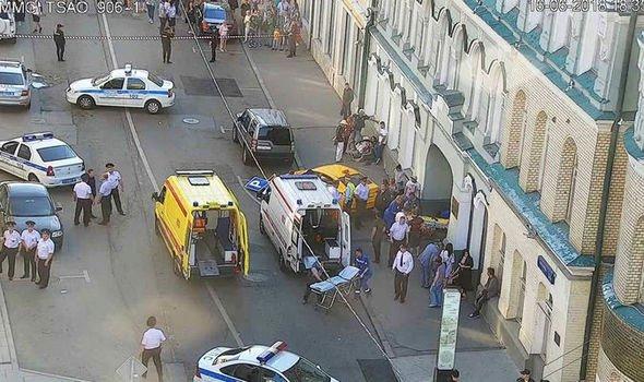Un taxista atropelló a una multitud de personas en Moscú