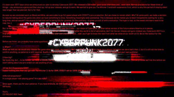 Cyberpunk 2077 tráiler