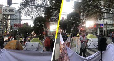 Damnificados del 19-S bloquean por horas la Avenida Insurgentes