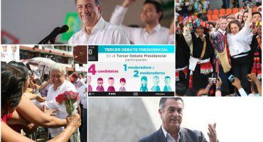 #Elecciones2018 Cómo, cuándo y dónde ver el tercer debate presidencial