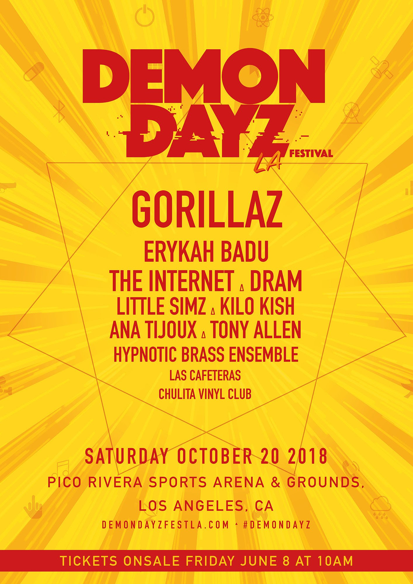 El Demon Dayz Festival 2018 de Gorillaz anunció su line up para la segunda edición