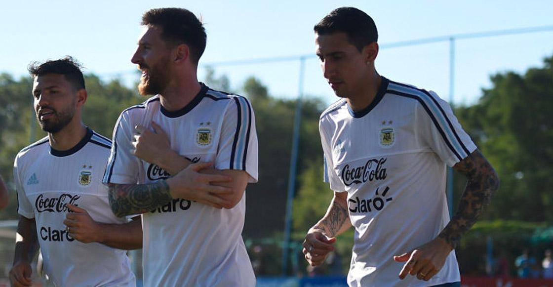 ¡Sorpresa! Argentina debutará con Messi, Di María y Aguero en ataque