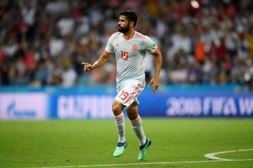 Diego marcó un doblete en el empate de España y Portugal