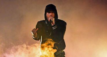 Eminem causa pánico en sus fans por usar sonidos de bala en su show en Bonnaroo 