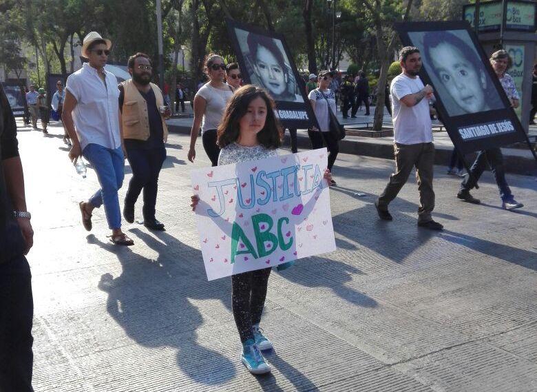 Manifestación a 9 años de la Guardería ABC. Foto: Gabriela Espinosa