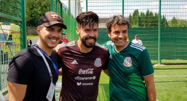 Whaaat? Eugenio y Vadhir Derbez visitaron a la Selección Mexicana en entrenamiento