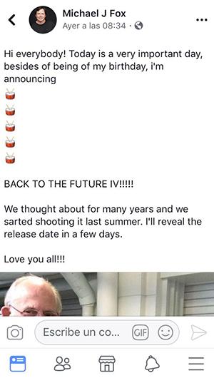 No jueguen con nuestros sentimientos: ¿'Volver al futuro 4' será una realidad?