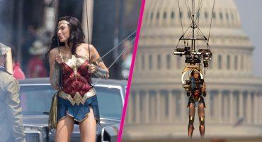 Gal Gadot se convierte en toda una superheroína al realizar acrobacias en el aire